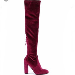 Steve Madden above the knee heeled boots
